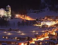 Kaprun bei Nacht © Hotel Sonnblick