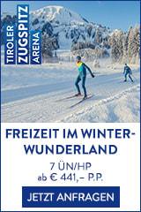 Freizeit im Winterwunderland der Zugspitz Arena